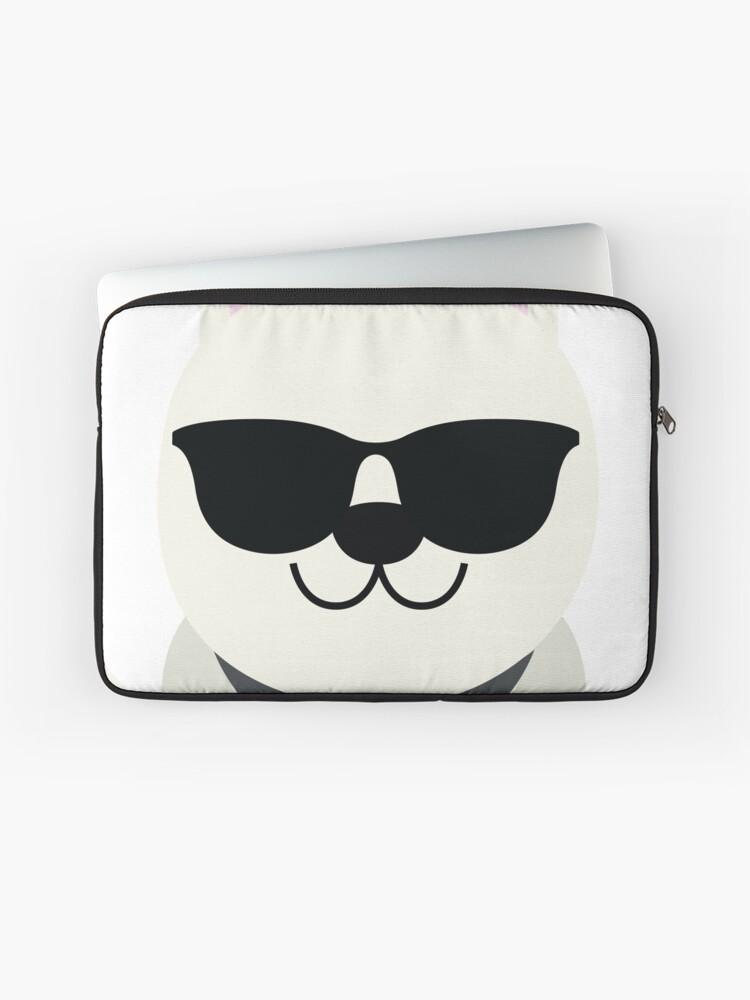 Gafas Alemán Portátil Sol Cool De Funda Pastor Para «blanco Emoji MVULzSpqG