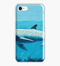Dolphins graffiti mural iPhone Case/Skin