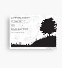Watership Down Black and White Illustrated Quote Canvas Print