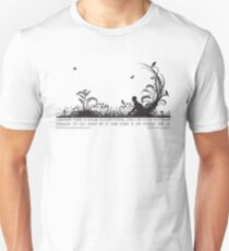 Secret Garden Black and White Illustrated Quote Unisex T-Shirt