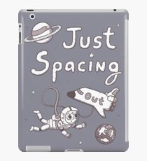 Just Spacing Out Cute Space Pun Humor iPad Case/Skin