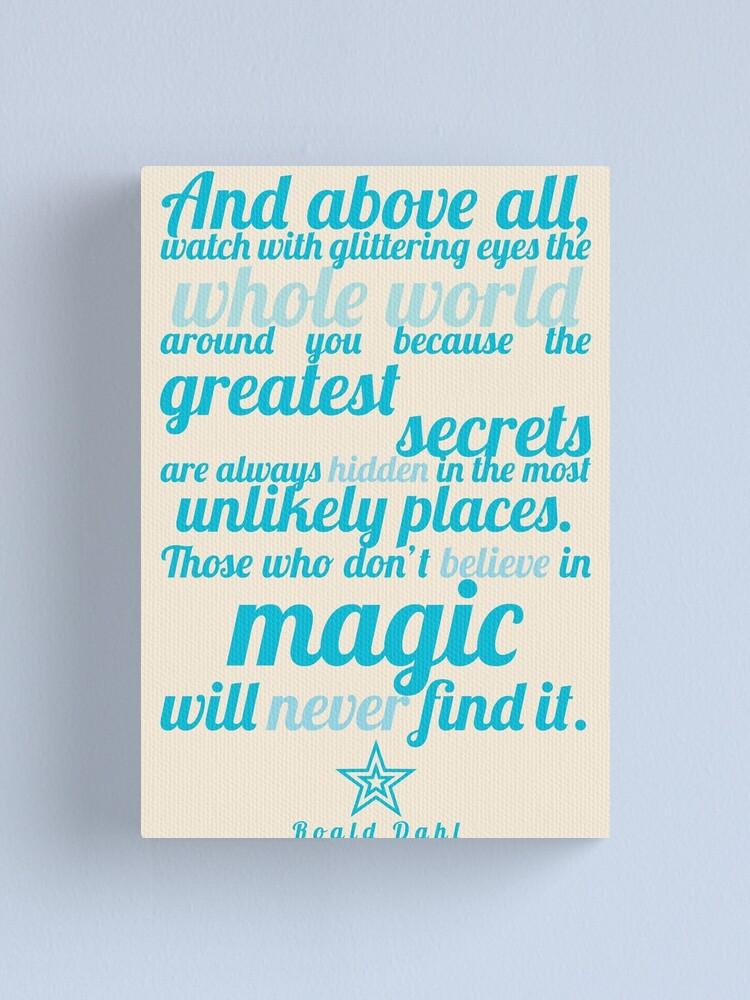 Alternate view of Roald Dahl / The Minpins Quote Canvas Print