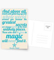 Roald Dahl / The Minpins Quote Postcards