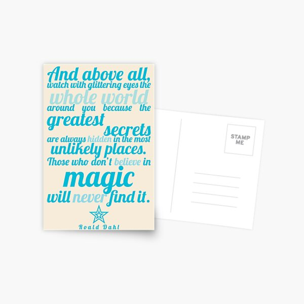 Roald Dahl / The Minpins Quote Postcard