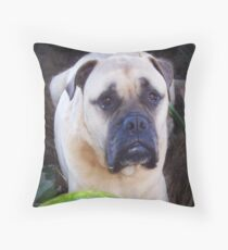 Man and woman and child's best friend  Throw Pillow