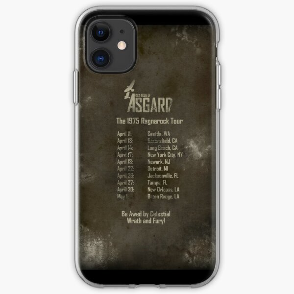 Old Gods of Asgard: Ragnarock Tour Poster iPhone Soft Case