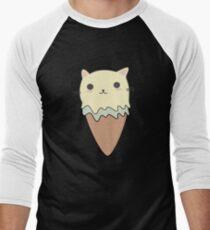 Cute Cat Ice Cream Cone T-Shirt Men's Baseball ¾ T-Shirt