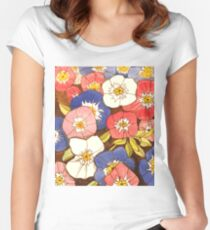 Petunias Women's Fitted Scoop T-Shirt