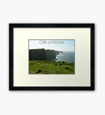 Captioned Cliffs of Moher Framed Print