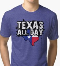 Texas All Day Shirt for Any Texan and Cowboys Fan Tri-blend T-Shirt
