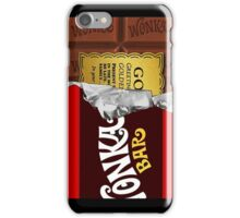 willy wonka chocolate bar cover for imagination iPhone Case/Skin