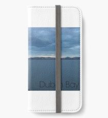 Captioned Dublin Bay with Lighthouse iPhone Wallet/Case/Skin