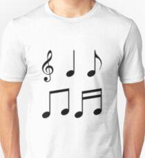 music notes music Unisex T-Shirt