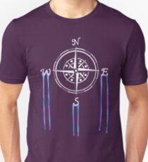 Watercolor Naval Compass [White Ink] T-Shirt
