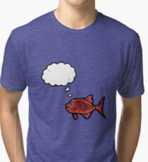 cartoon red fish Tri-blend T-Shirt