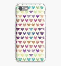 Colorful hearts III  iPhone Case/Skin