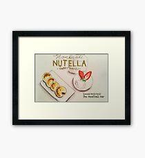 Nutella Ravioli Dessert  Framed Print