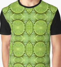 8. Food and Fruit: Lime Slices Graphic T-Shirt