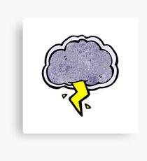 thundercloud cartoon character Canvas Print