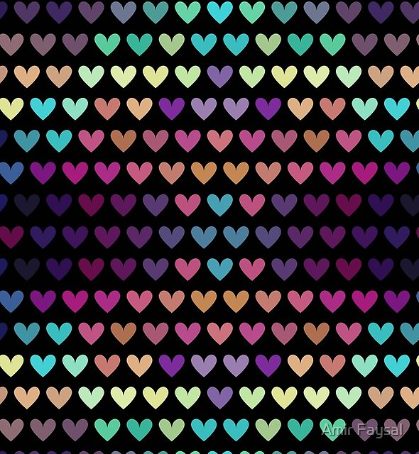 Colorful hearts IV by Amir Faysal