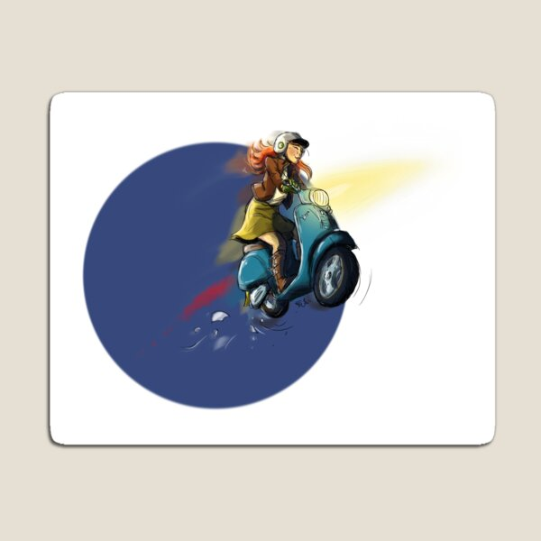 Vespa - to the Skies! Magnet