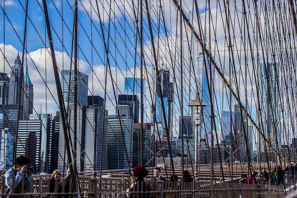 Brooklyn Bridge, New York, USA. by VickiWalsh