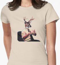 Deer Man, Thumbs Up Women's Fitted T-Shirt