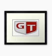 NISSAN スカイライン (NISSAN Skyline) GT Logo Gerahmtes Wandbild