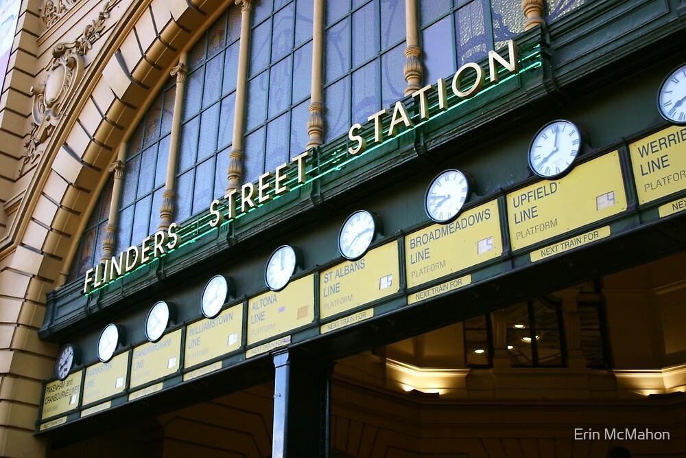 Flinders Street Station - Melbourne - Victoria by Erin McMahon