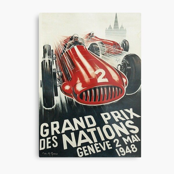 Circuit des Nations, Geneva F1 - Vintage Motorsport Metal Print