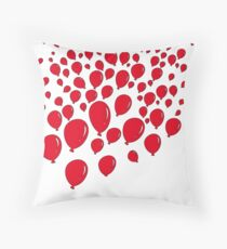 Ninety Nine Red Balloons Throw Pillow