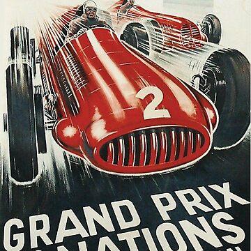 Grand Prix des Nations - Vintage Motorsport - Metal Print by projectbebop