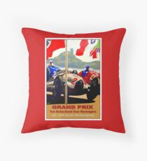 GERMAN GRAND PRIX; Auto Racing Advertising Print Throw Pillow
