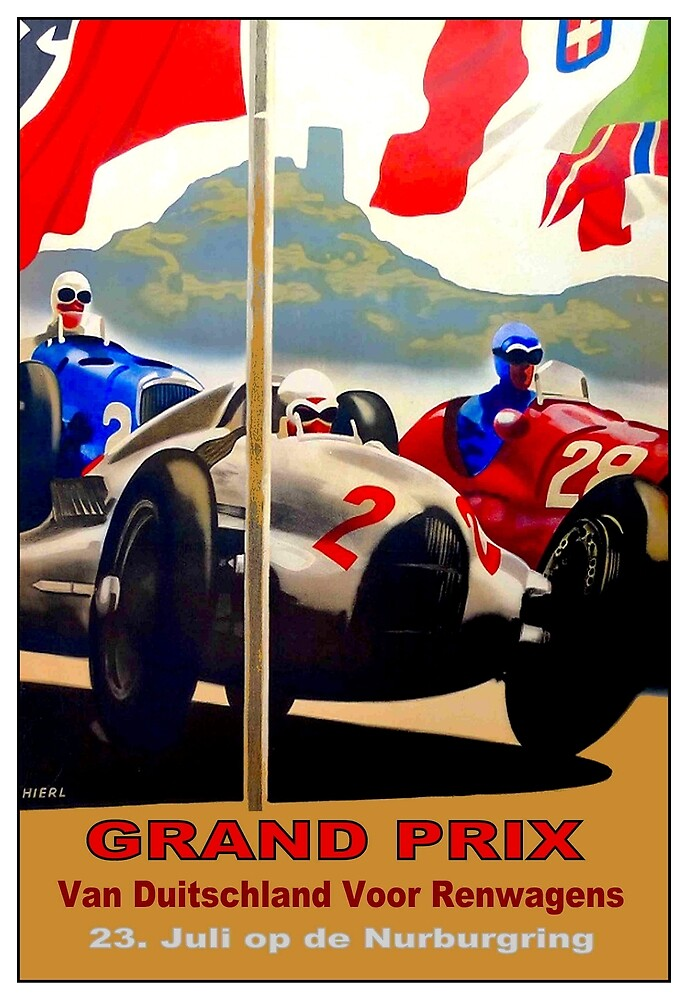 GERMAN GRAND PRIX; Auto Racing Advertising Print by posterbobs