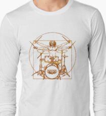 Homme de tambour de Vitruve T-shirt manches longues