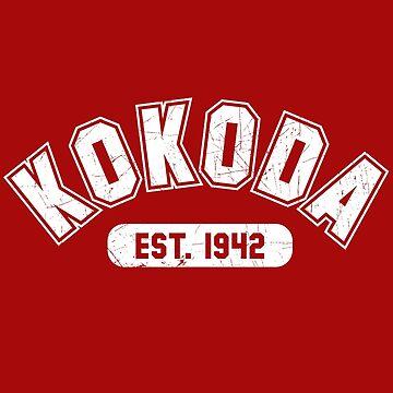 Kokoda Varsity Est 1942 White by noroads