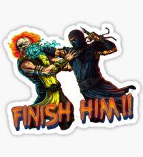 Sub-Zero - Scorpion. Finish Him! Sticker