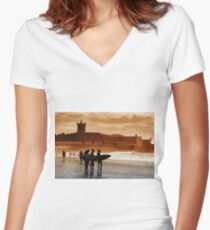 Carcavelos Surfers Women's Fitted V-Neck T-Shirt