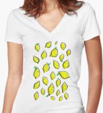 Spring lemons Women's Fitted V-Neck T-Shirt