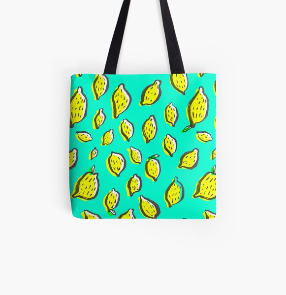 Spring lemons All Over Print Tote Bag