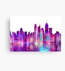 Artistic - XXVI - Abstract Cityscape Canvas Print