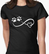 Love Dog T-shirt Womens Fitted T-Shirt