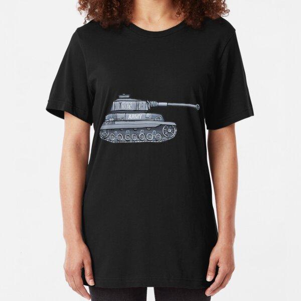 Toon Army Tank Slim Fit T-Shirt