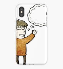 person with thought bubble iPhone Case/Skin