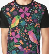 Enchanted Tiki Birds  Graphic T-Shirt