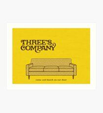 Three's Company Art Print