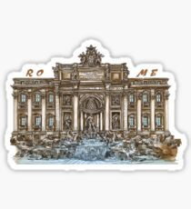 Trevi Fountain,Rome  Sticker