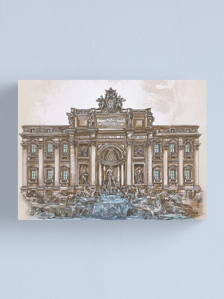Alternate view of  Trevi Fountain,Rome  Canvas Print