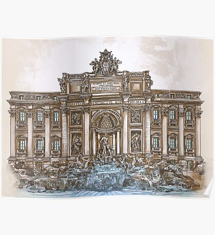 Trevi Fountain,Rome  Poster
