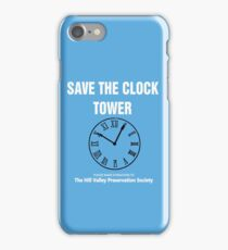 Save the Clock Tower (Back to the Future Print) iPhone Case/Skin